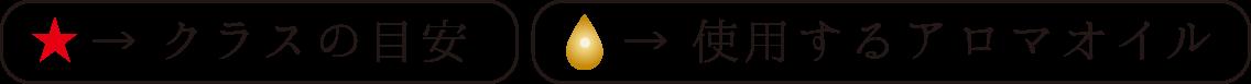 クラスの目安・使用するアロマオイル